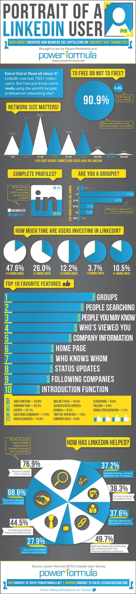 LinkedIn infografica utente